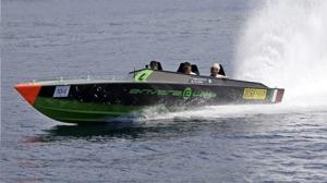 Anverra E-lab boat in e-regatta Sprint race