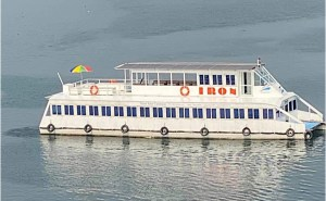 electric passenger boat on river