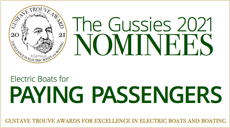 2021 Gussies Electric Boat Awards Nominees: Electric Boats for Paying Passengers