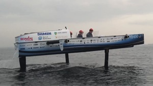 Hydrofoiling hydrogen boat 'flying' over water