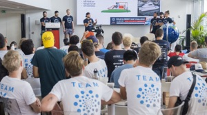 Students make a Tech Talk presentation at Monaco Energy Boat Challenge