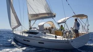 electric propulsion Arcona 380Z sailing in the Atlantic Ocean