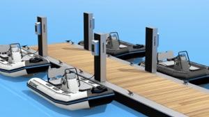 4 Zodiac electric boats - 2 models, 2 colours