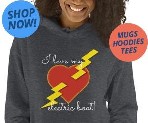 I love my electric boat hoodie