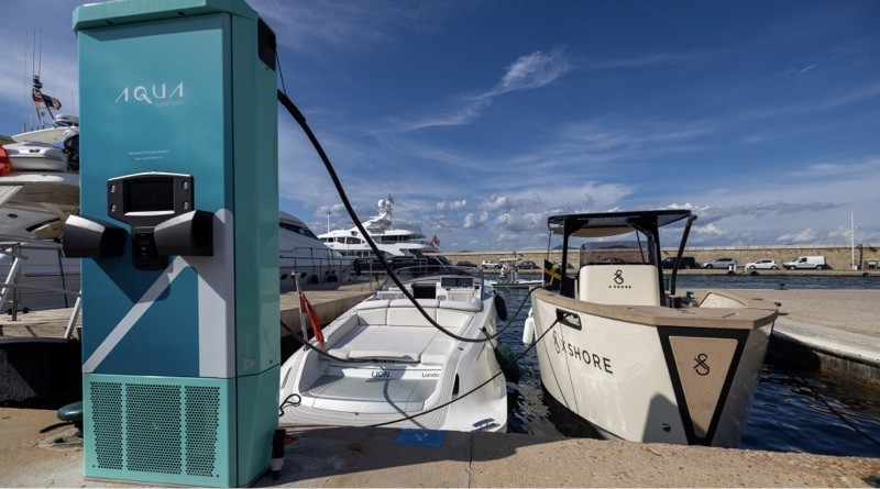 electric boat show featured this Aqua dockside supercharger