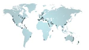 map of Aqua global electric marine charging system