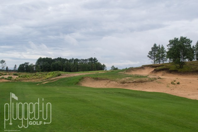 A sharp, uphill dogleg to get to the green at #2.