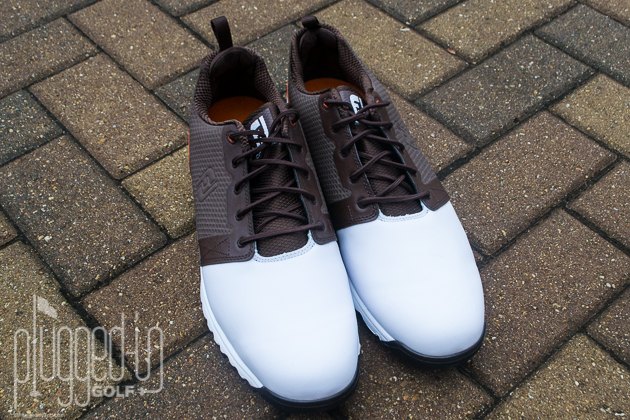 Contourfit White Black Golf Shoe