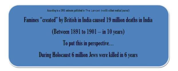 The Indian Holocoust - where 3 times more Indians were killed than Jews1