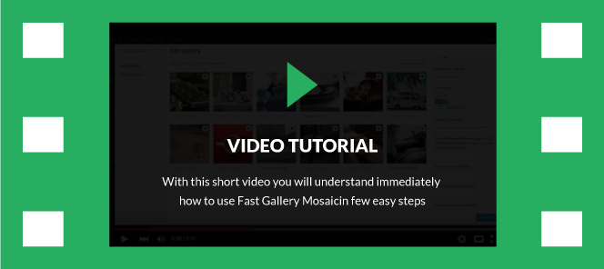 Fast Gallery Mosaic - WordPress Plugin 4