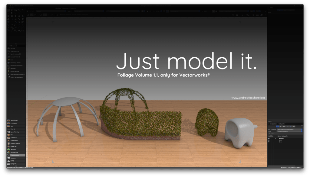 Foliage Volume for Vectorworks Just model it