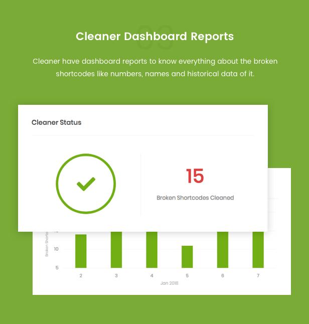 Shortcode Cleaner - Clean WordPress Content from Broken Shortcodes - 6