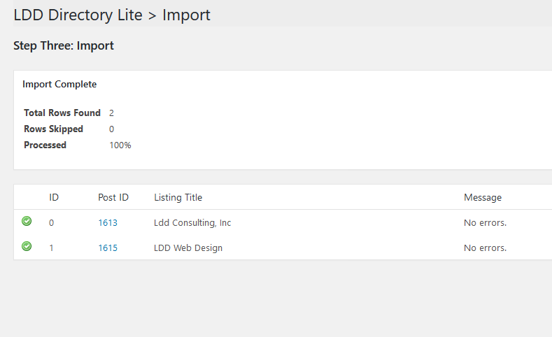 Run the import