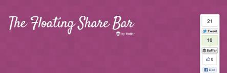 Añade la característica de compartir tu contenido en las redes sociales con Digg Digg