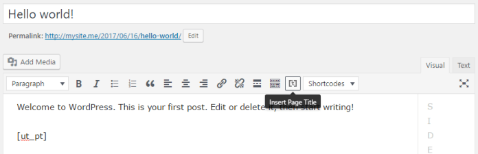 """Insert Title"" WordPress Plugin"