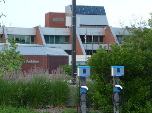 George Howard Building with EV Charging Stations