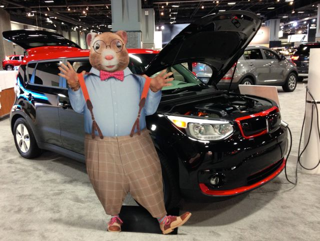 Washington Auto Show 2015 Kia Soul EV
