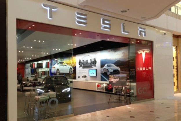 Tesla Gallery in Westfield Mall, Bethesda, Maryland