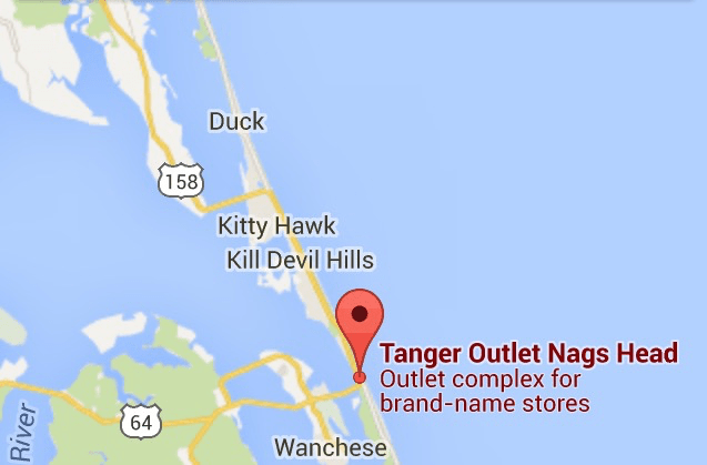 Tanger Outlet Map