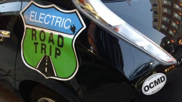 electric road trip sign