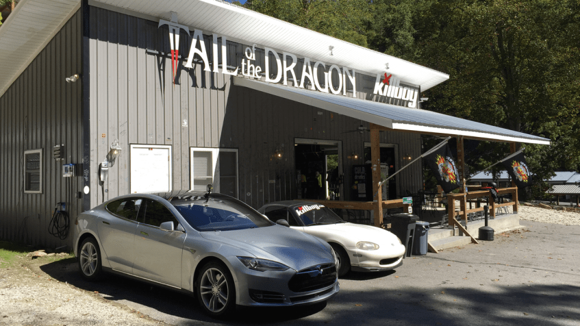 Tail of the Dragon Tesla Charging