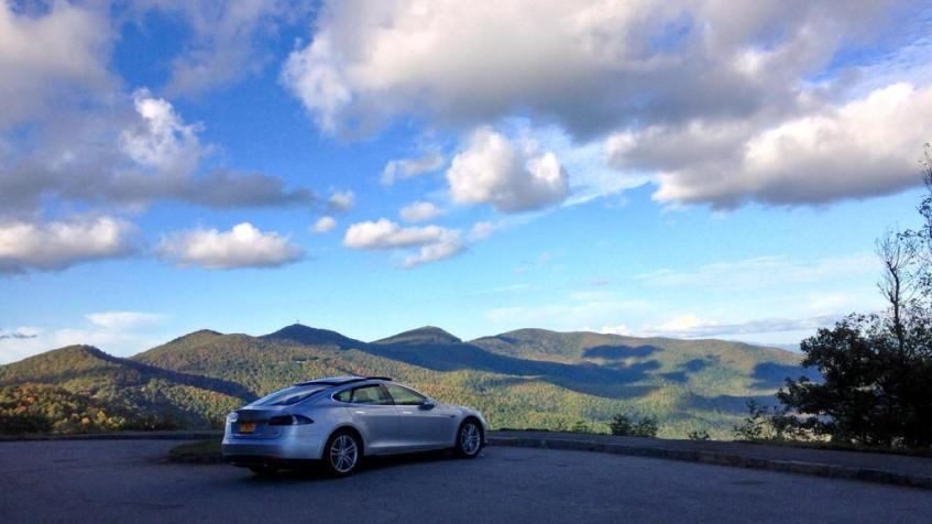 Electric Vehicle Touring Scenic