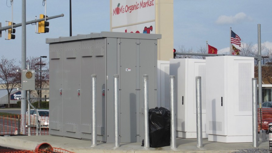 EV Charger Cabinets at White Marsh