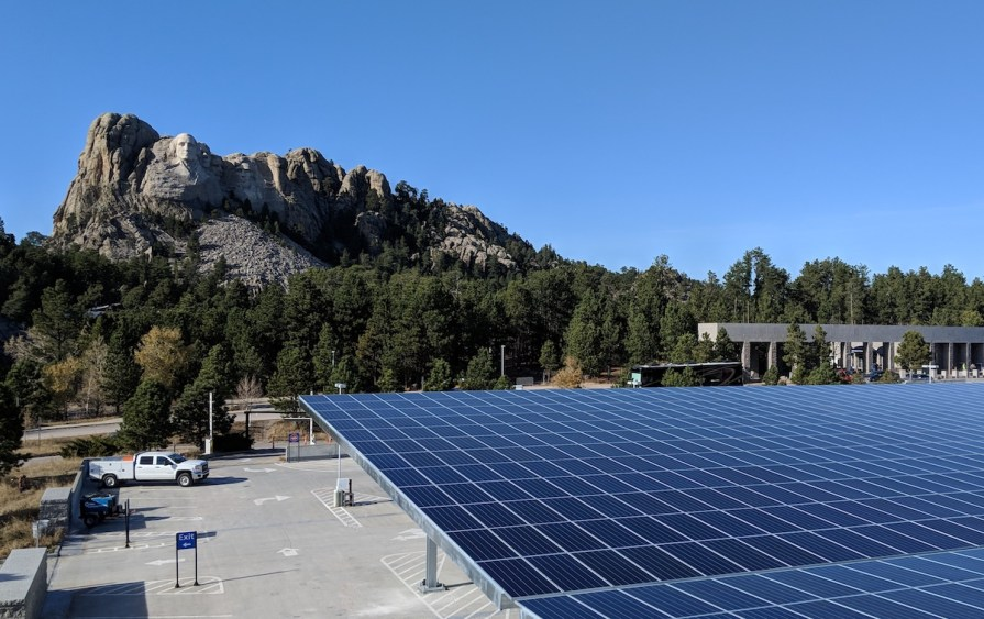 Mount Rushmore Solar Canopy and EV charging sttions