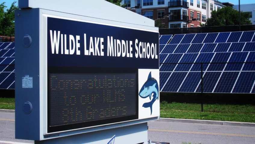 Electric School Bus Wilde Lake Middle School