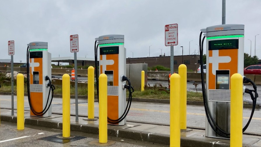 MDTA EV Charging Signs Ft McHenry Tunnel