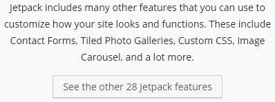 There are 28 Jetpack features with more being developed