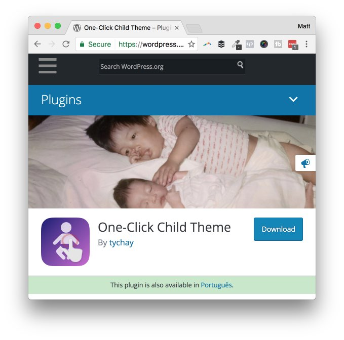 one-click child theme