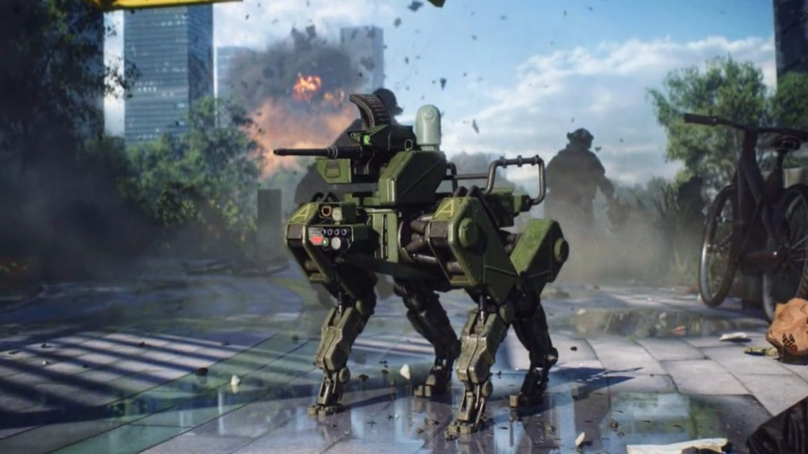 Players can summon combat robot dogs to immediately enhance the feeling of future war.