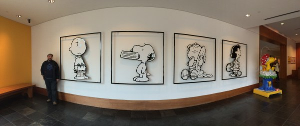 "Panoramic ""fish-eye"" of the Lobby's main wall."