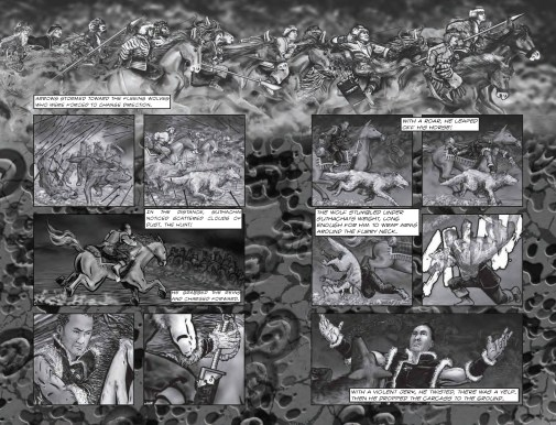 Legend of the Snow Wolf - page 2 & 3