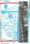 Tentative layout of page 108 combines thumnail sketch with pre-existing art.r lines.