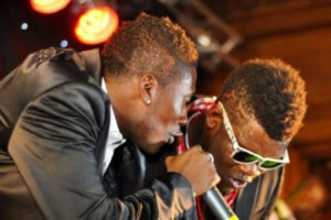 Asamoah Gyan and Castro