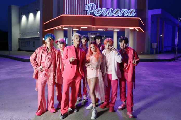 Halsey with BTS
