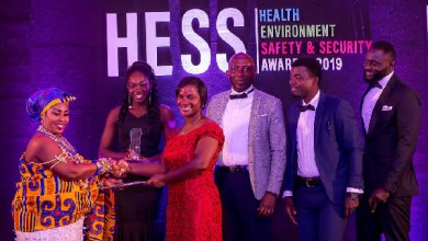 Blue Ocean Investment receiving the award for best HESS Company of the year