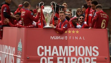 Liverpool Champions League trophy parade