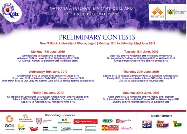 National Science and Maths Quiz 2019 preliminary contest