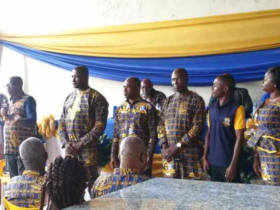 Newly elected National Executives of Kumasi Academy Past Students Association
