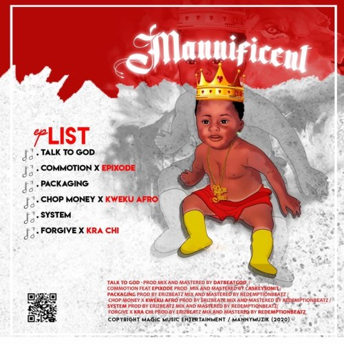 Mannificent EP Cover (Back)