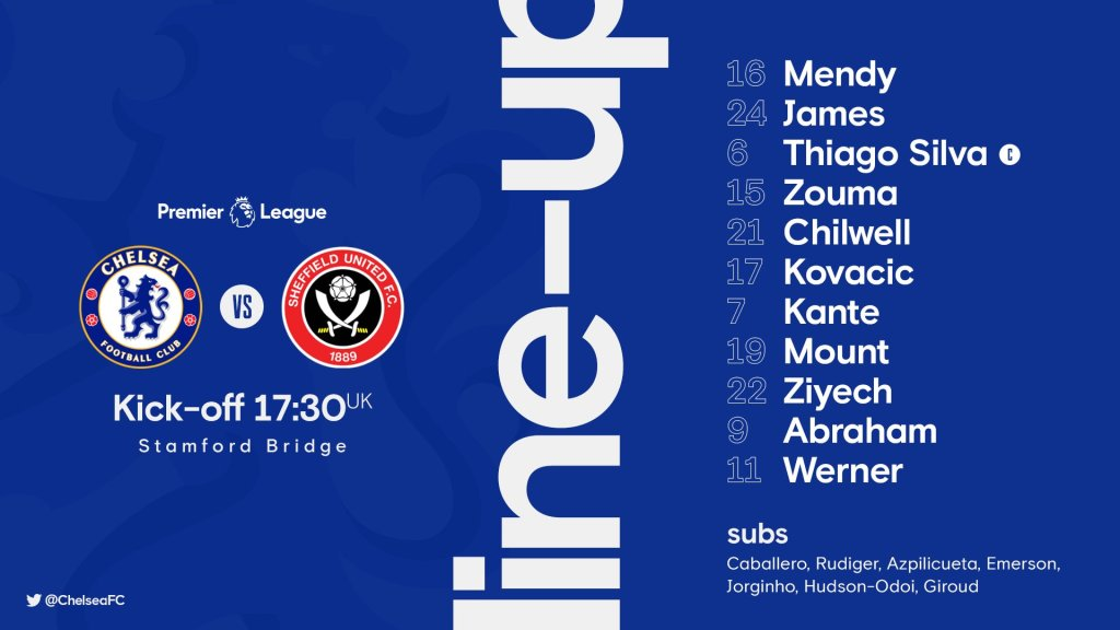 Chelsea FC Team vs Sheffield United