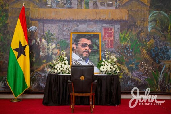 John Mahama signs late Jerry John Rawlings book of condolence