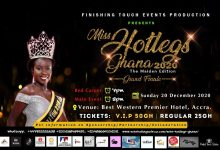 Miss Hotlegs Ghana 2020 grand finale new date venue