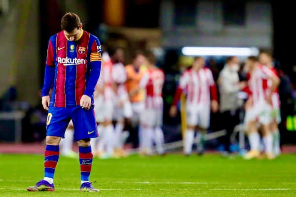 WATCH Messi First Red Card Incident vs Athletic Bilbao