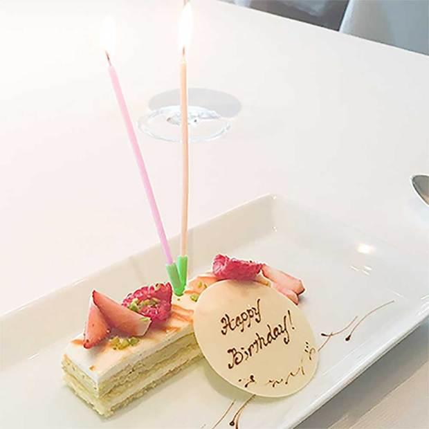 マンダリンオリエンタルのシグネチャーサービスのケーキ