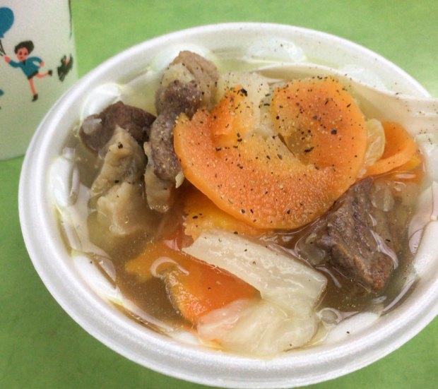 レトロなカフェ近江屋洋菓子店のビーフ&ベジタブルスープ