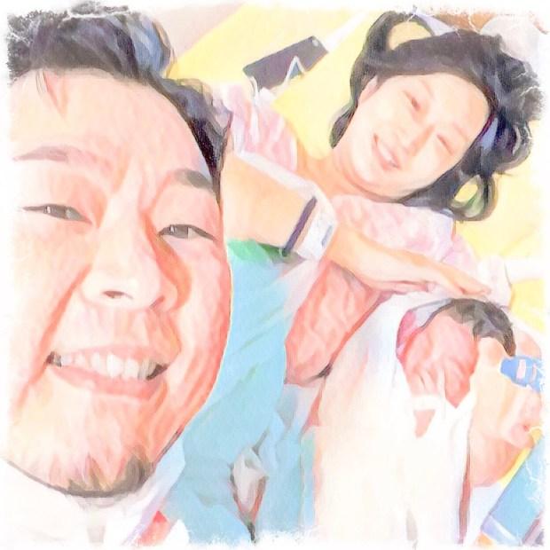 小梅ちゃんの誕生日に家族3人で撮影